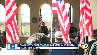 community comes together for veteran at funeral