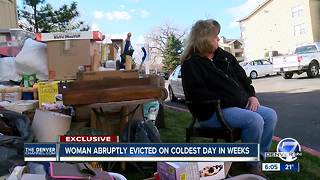 Woman abruptly evicted on coldest day in weeks - Video