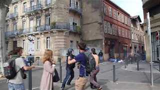 Woman Slammed Into Railing by Police During Toulouse Protests - Video