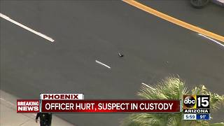 Phoenix officer hurt after shooting with suspect - Video
