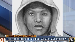 Sketch of suspect in North Baltimore sexual assault released by Baltimore Police - Video