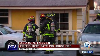 House fire extinguished in Boynton Beach