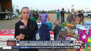 Local Hurricane Harvey Donations Today - Video
