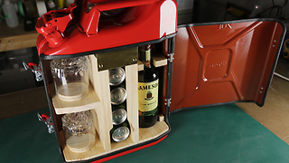 Crafty Man Shows How To Make A Handy Mini Bar