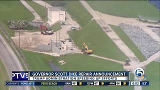 Gov. Scott to make dike repair announcement - Video