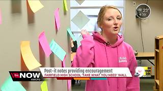 Post-It Notes spread encouragement, joy at Fairfield High School - Video