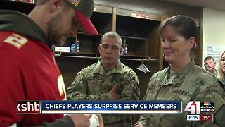 Chiefs surprise service members ahead of Thanksgiving - Video