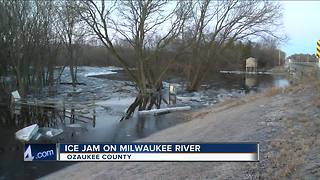 Ice jams on Milwaukee River could cause flooding for some residents - Video