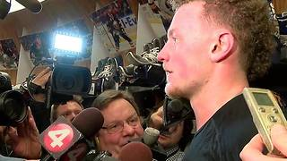 Jack Eichel talks about Sabres 4-3 win over Rangers