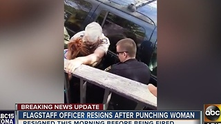 Flagstaff officer steps down after punching woman - Video
