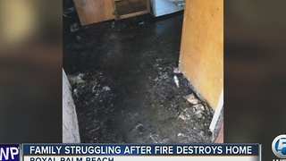 Family struggling after fire destroys home