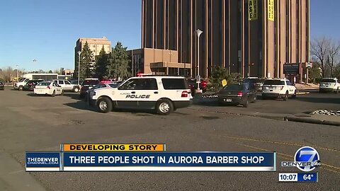 3 men shot inside Aurora office building; police say there is no threat to the community