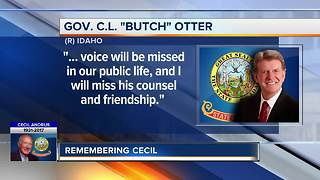 Reaction to the passing of former Governor Cecil Andrus