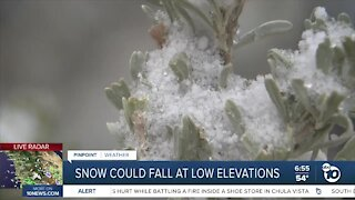 San Diego's low elevations could see snowfall