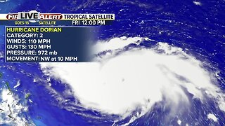 Hurricane Dorian forecast to become dangerous Category 3 storm today