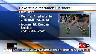 Two local runners finished in the top five in the Bakersfield Marathon - Video