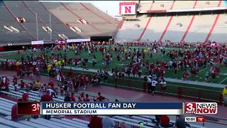 Memorial Stadium packed for Husker Fan Day - Video