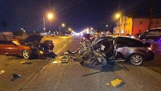 UPDATE: Fatal crash overnight in Las Vegas, impairment suspected for 1 driver