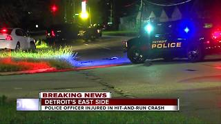 Detroit police officer injured in hit-and-run crash - Video