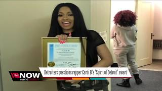 Detroiters question rapper Cardi B's Spirits of Detroit award - Video