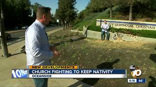 Oceanside church fighting to keep nativity - Video