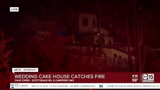 Iconic Cave Creek-area 'wedding cake' home catches fire