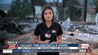 Calgary Fire 75 percent contained, evacuations lifted, Hwy 155 reopened - Video