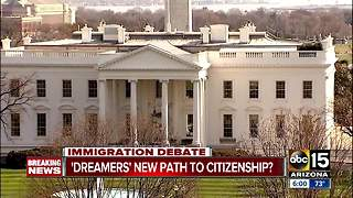 Trump proposes path to citizenship for 1.8 M, but includes border wall