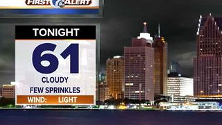 Mostly cloudy night with sprinkles - Video