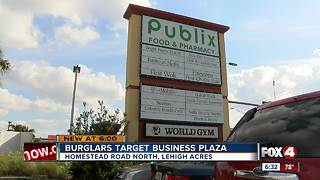 Burglars target Lehigh Acres Business Plaza - Video