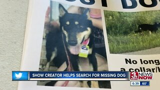 Show creator helps search for missing dog