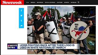 Lions fighting back after their logo is used in White Nationalist March - Video