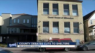 Milwaukee County leaders debate cuts to shlters - Video
