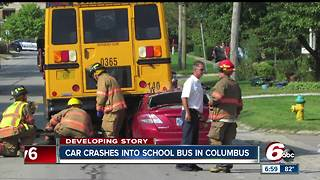 One person seriously injured following school bus crash in Columbus - Video