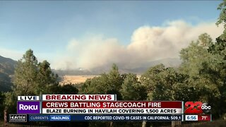 Crews continue to battle Stagecoach Fire