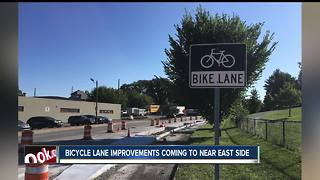New and improved bike lanes coming to the near east-side to separate bikes from traffic - Video