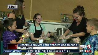 Summer camp teaches kids how to cook -- 7:30am live report - Video