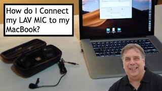 Connect LAV MIC to MacBook Pro