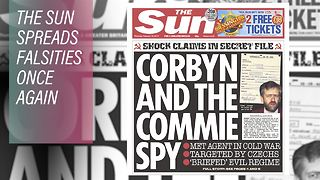 The Sun's spurious Soviet spy story against Corbyn - Video