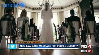 New law bans child marriage