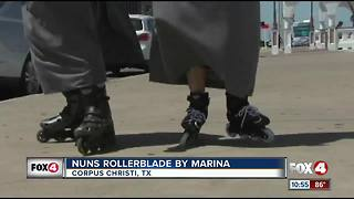 HOLY Rollers! Nuns turning heads at marina - Video