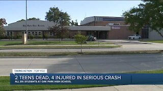 2 teens dead, 4 injured in serious crash
