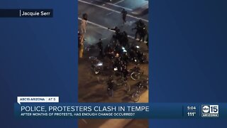 Police, protesters clash in Tempe