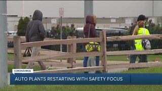Auto plants in metro Detroit restarting with safety focus