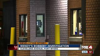Police Investigating Robbery at Fort Myers Wendy's - Video