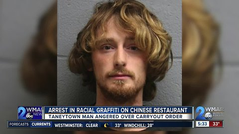 Arrest after racial graffiti at Chinese restaurant