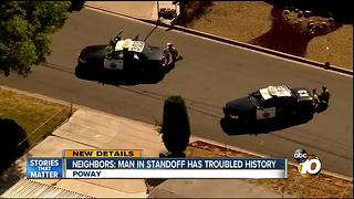 Neighbors: man in standoff has troubled history - Video
