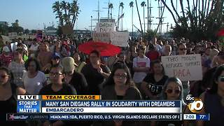 San Diegans rally in solidarity with Dreamers - Video