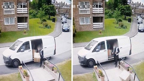 Watch: Yodel courier hurls £450 worth of antiques down 12 concrete steps before being confronted by angry customer