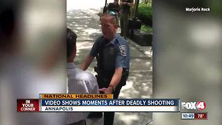 Woman captures aftermath of shooting on video